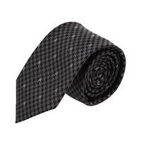 עניבה דגם פפיתה אפור שחור