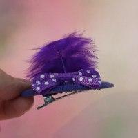 סיכת כובע סגול