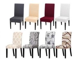 כיסויים אלסטיים דקורטיביים לכיסאות במגוון עיצובים