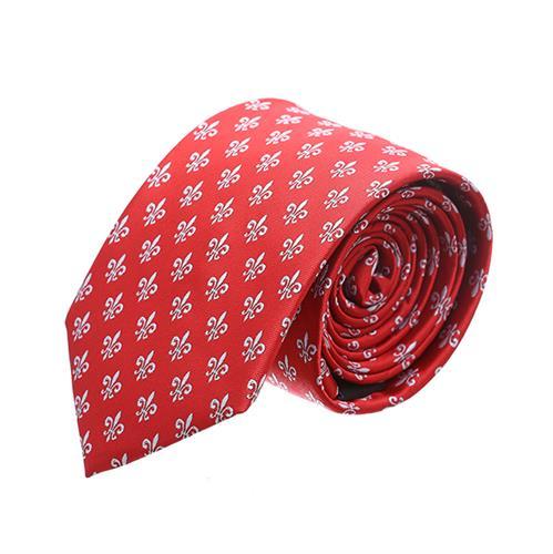 """עניבה """"פולקה"""" אדום לבן"""