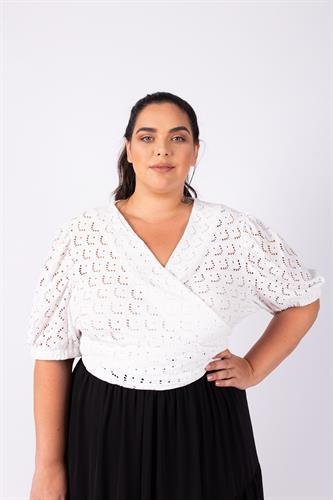 חולצת גרייס לבנה