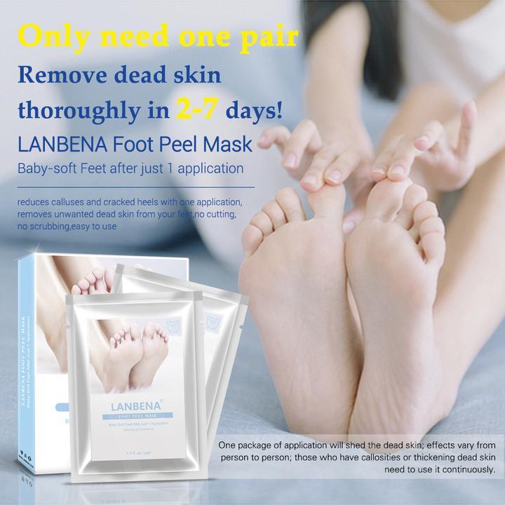 LANBENA מסיכת פילינג עשירה בויטמינים לחידוש עור הרגליים
