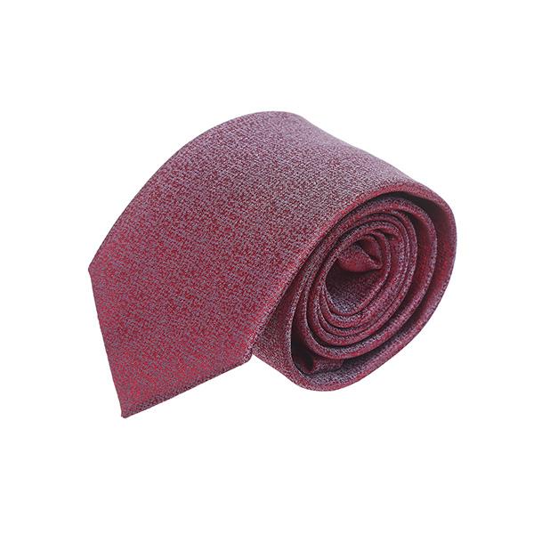 עניבה קלאסית שלג אדום אפור
