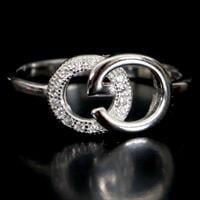 טבעת כסף משובצת זרקונים RG1080