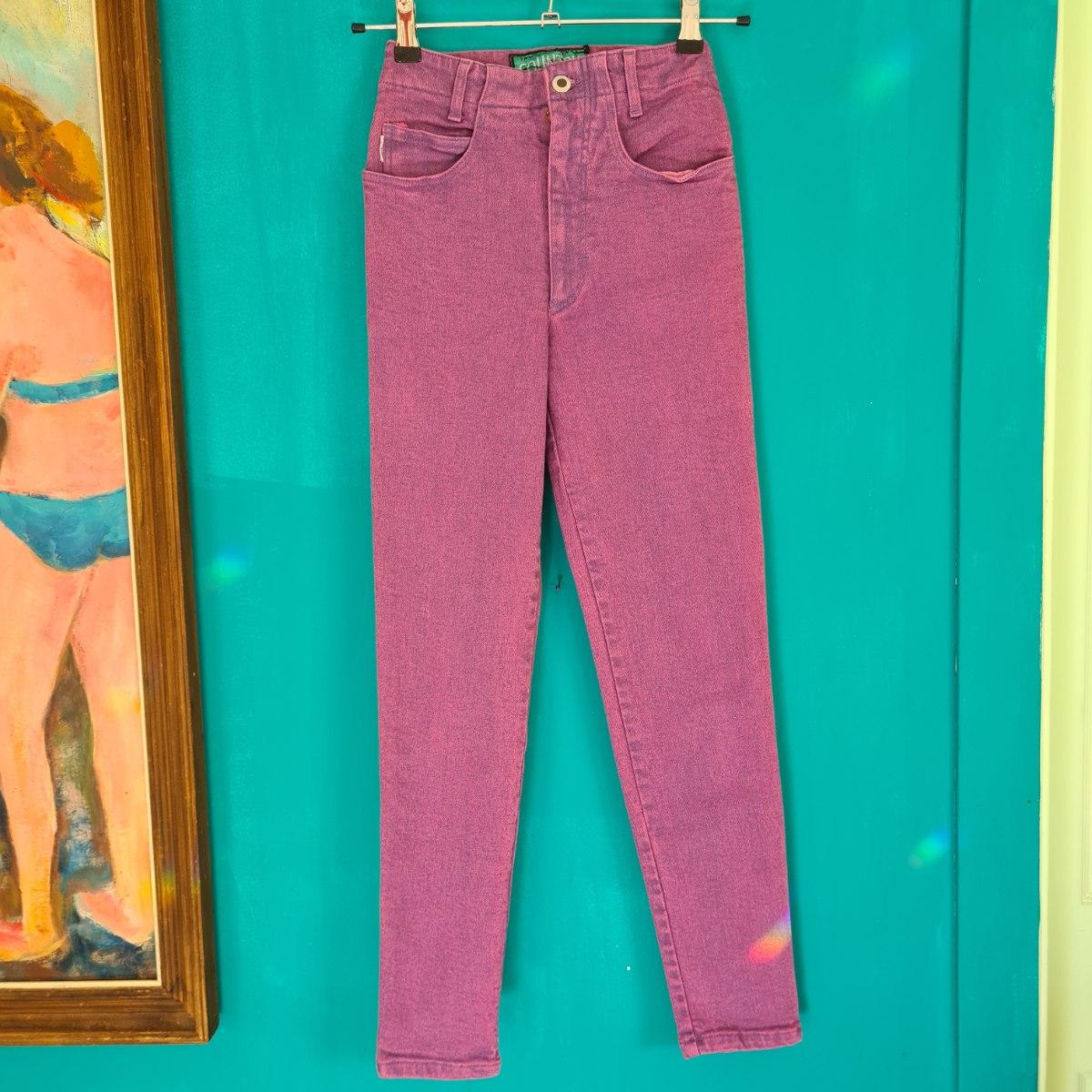 ג'ינס לייקרה ווש סגול XS/S