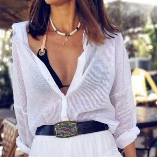 חולצת רנה כפתורים פריזאית