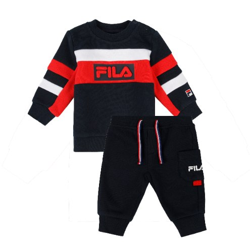 חליפת פוטר בייבי בנים כחול/אדום/לבן FILA - מידות NB עד 8 שנים