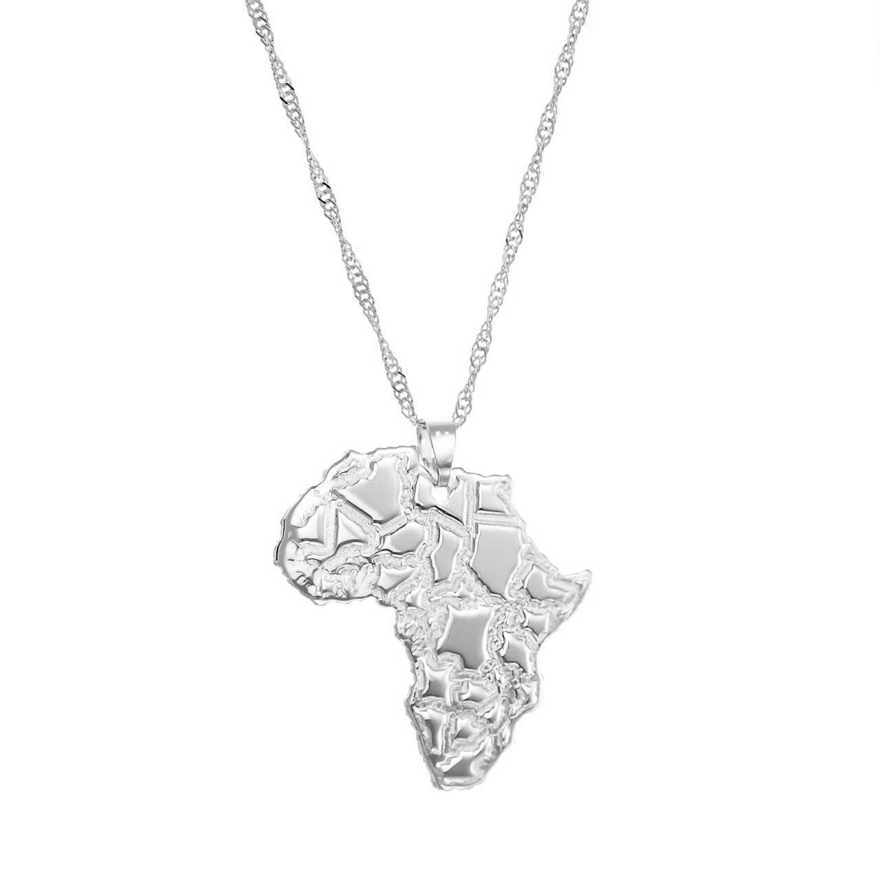 שרשרת תליון מפת אפריקה