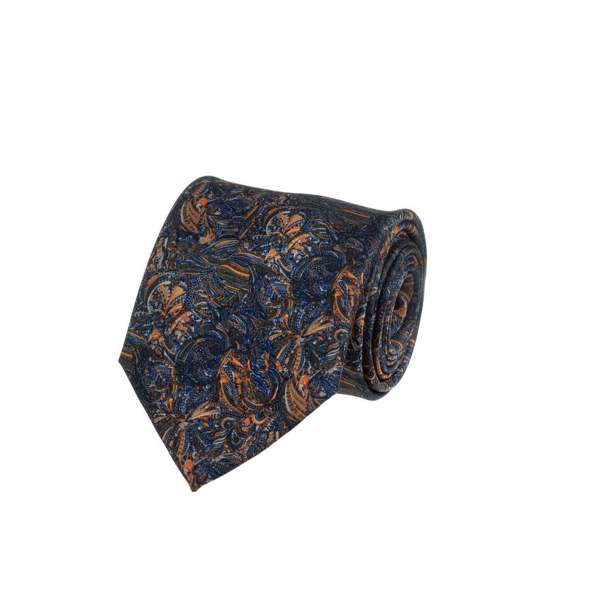 עניבה פיקאסו כחול - כתום