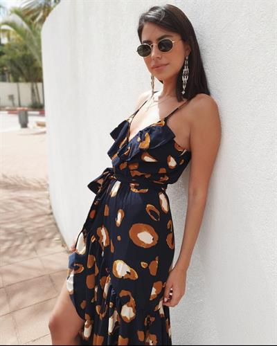 שמלת רוז - פרינט נייבי