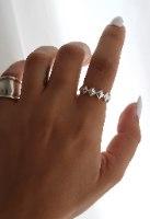 טבעת כסף מעויינים רוני