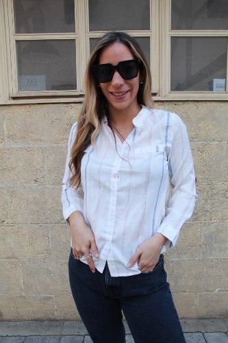 חולצת הילי פסים ורוד כחול