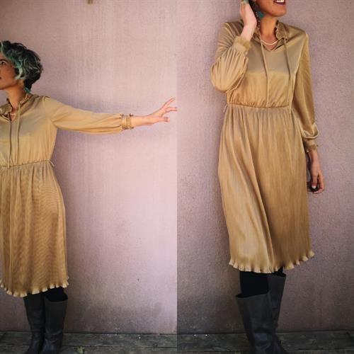 שמלה מוזהבת נסיכית מידה M/L