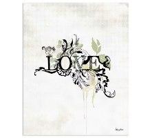 איור טיפוגרפי מילה אהבה