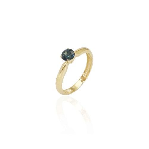 טבעת זהב ספיר 0.55 קראט