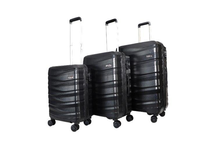 סט 3 מזוודות איכותיות SWISS  - צבע שחור