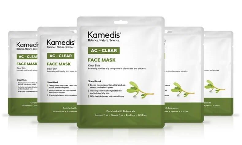 מארז 5 מסיכות בד לניקוי עמוק לעור שמן עם נטייה לפצעונים - AC - CLEAR FACE MASK