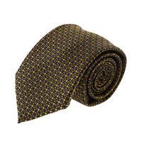 עניבה קלאסית ריבועים צהוב