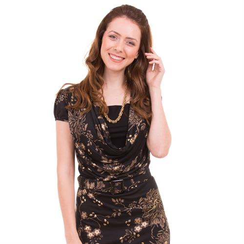 שמלת הנקה רבידה - שרוול קצר NursingAnywear