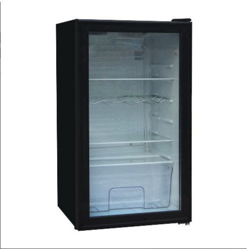 מקרר משרדי ׁׁׁ ג'נרל דלת זכוכית שקופה מסגרת שחורה GENERAL BC90