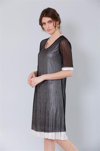 שמלת אדל שחורה כסופה