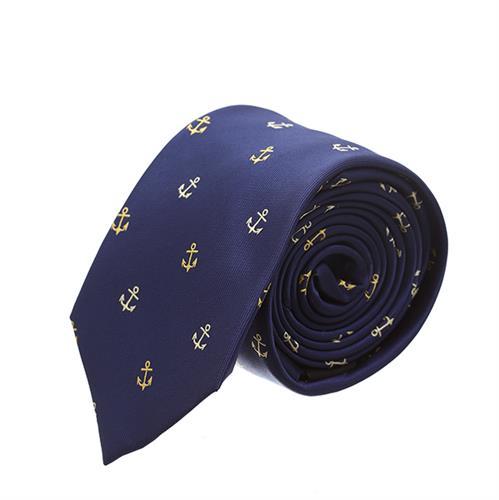 """עניבה """"עוגן"""" כחול נייבי"""