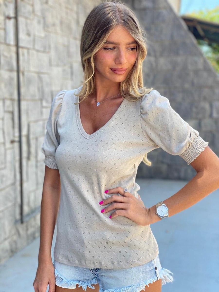 חולצת אמה בז' THOMAS