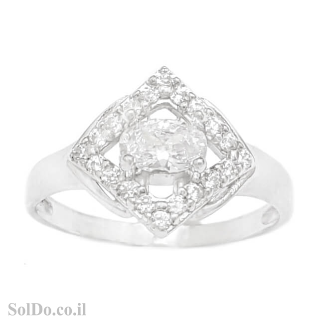 טבעת מכסף משובצת אבני זרקון  RG1675 | תכשיטי כסף | טבעות כסף