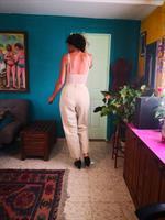 מכנס גבוה בצבע שמנת מידה M