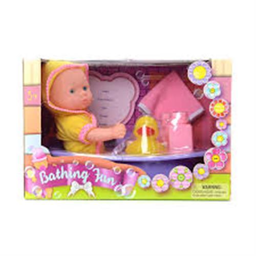 בובת תינוק 34 סמ באמבטיה+אביזרים