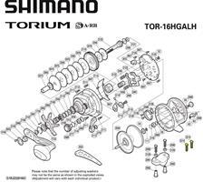 רולר לדייג שימנו Shimano TORIUM 16AL HG