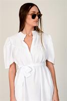 שמלת לילוש קצרה  לבן/שחור/כאמל