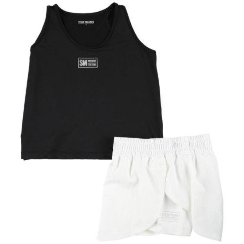 חליפת ספורט לבן/שחור STEVE MADDEN - מידות 4-16