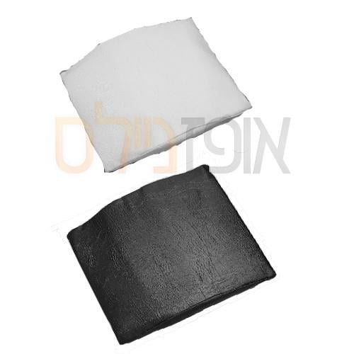 כרית יד לקוחה כיסוי דמוי עור-לבן