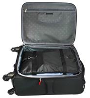 3 מדפי בגדים נתלים המתקפלים היישר לתוך המזוודה