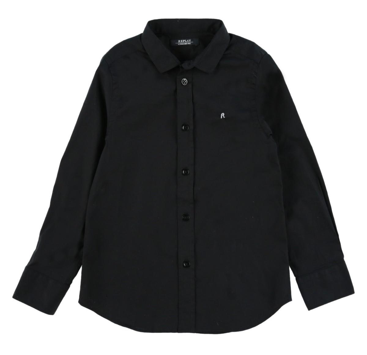 Replay חולצה שחורה אלגנט מידות 4-16