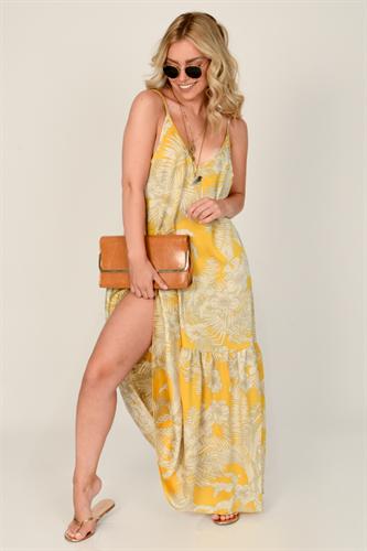 שמלה מיקונוס לערב צהובה