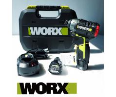 מברגת אימפקט נטענת 12V עם 3 מהירויות קומפקטית וקלה לעבודה במקומות צרים דגם WU132 וורקס WORX