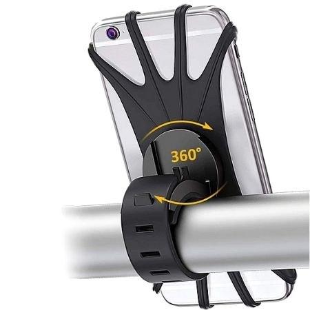 מחזיק סמארטפון עוצמתי לאופניים ולאופנוע - עיצוב סיליקון מונע החלקה וזעזועים