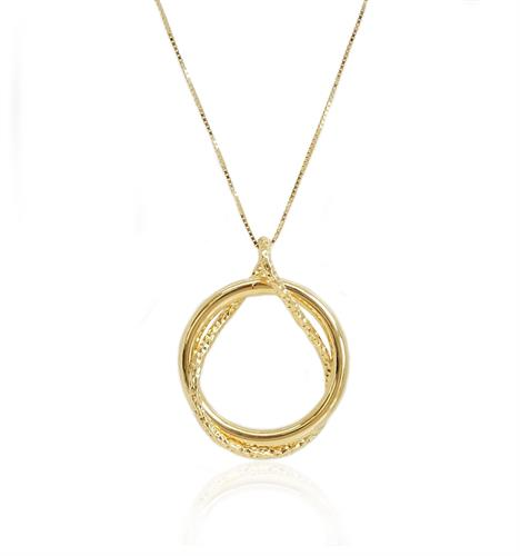 שרשרת זהב עיגול מיוחד