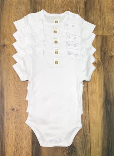 סט חמישיית בגדי גוף לבן