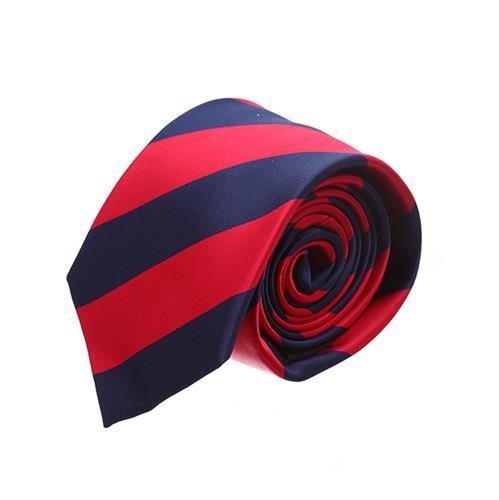 עניבה פסים כחול אדום