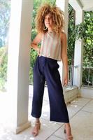 מכנסי פליסה כחול