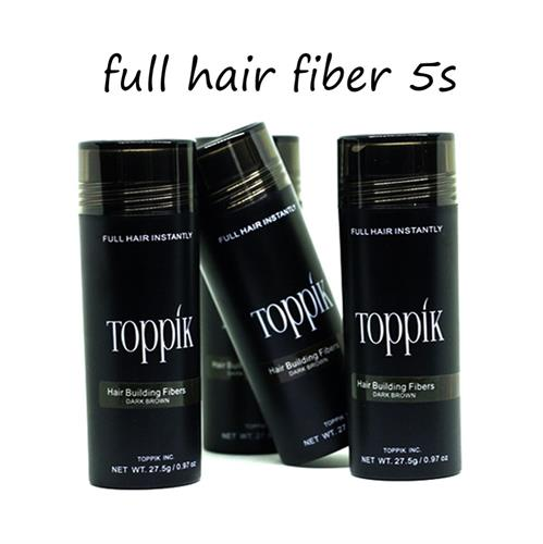 סיבי שיער טופיק להסתרת קרחות, שיער דליל ונשירה - Toppik Fiber 5s