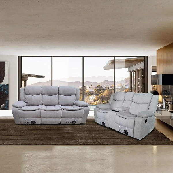 ספה 2+3 מושבים ג'ק מרלו ( בד אפור )
