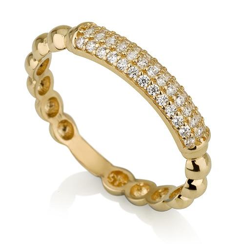 טבעת פלטה מזהב 14K