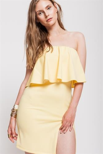 שמלת מונטה קרלו צהובה