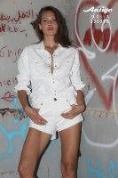חולצה מכופתרת ג'ינס לבן ANTIGO