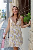 שמלת גל צהובה