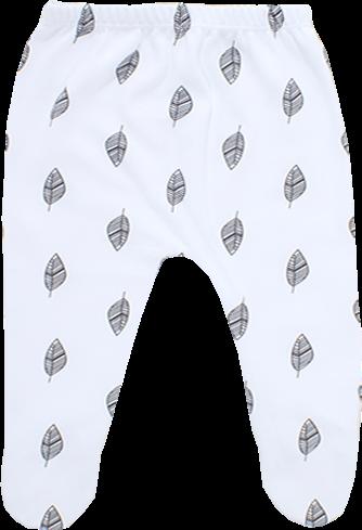 רגליות לבן עם הדפס